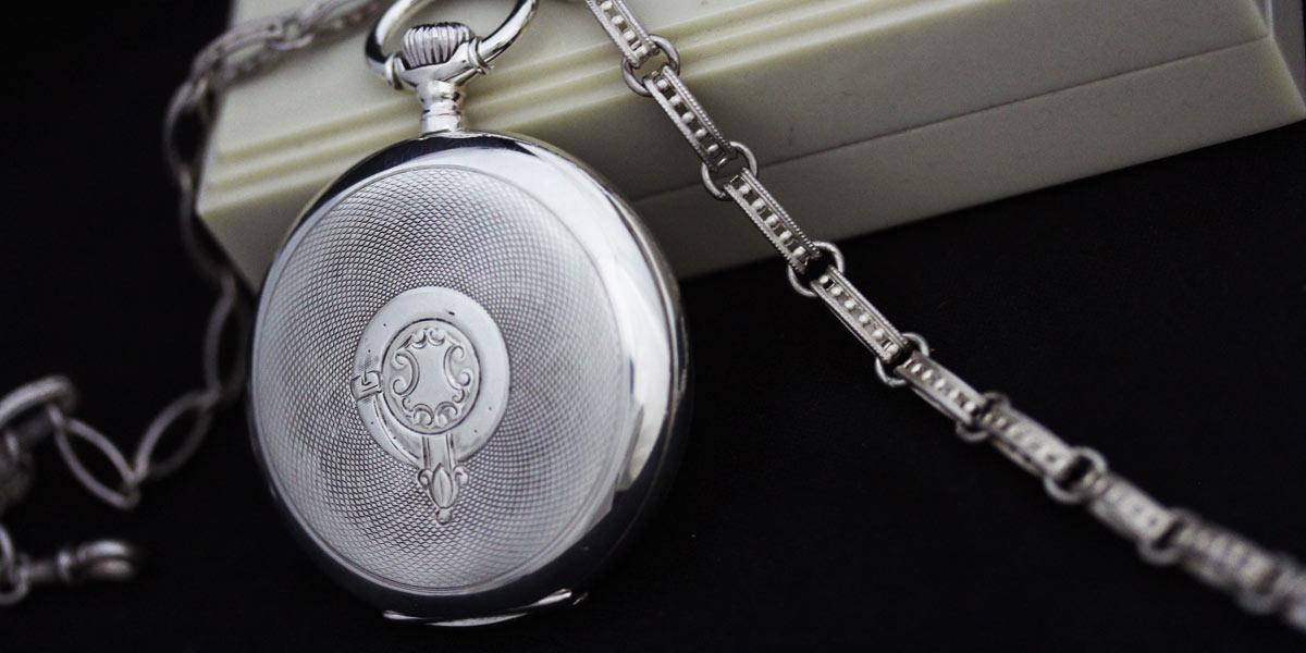懐中時計とチェーンのセット