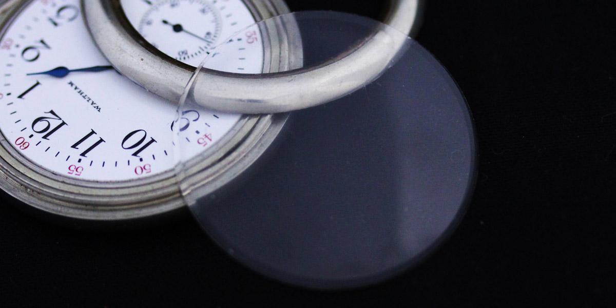 懐中時計のガラス風防