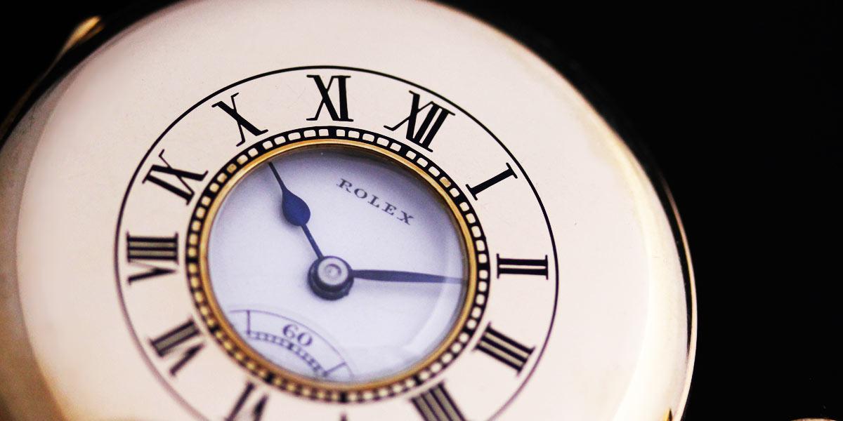 ロレックスの懐中時計