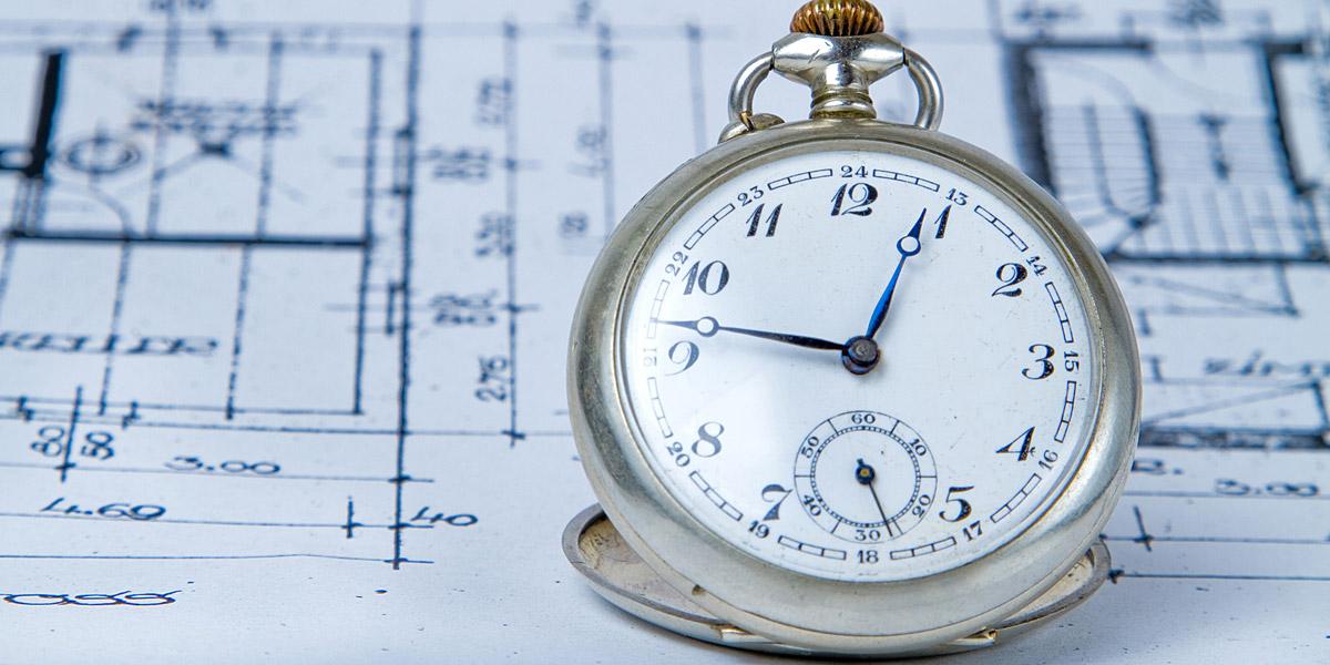 懐中時計と見取り図