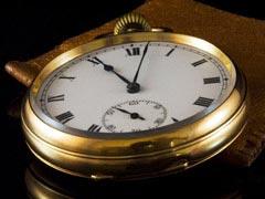 シンプルなアンティーク懐中時計