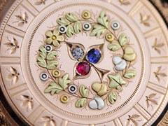 装飾の綺麗な懐中時計ケース
