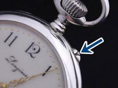 ダボ押し・ボタン式懐中時計
