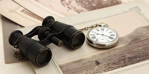 双眼鏡と懐中時計